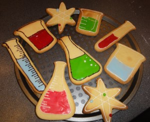 Amazingly decorated science cookies