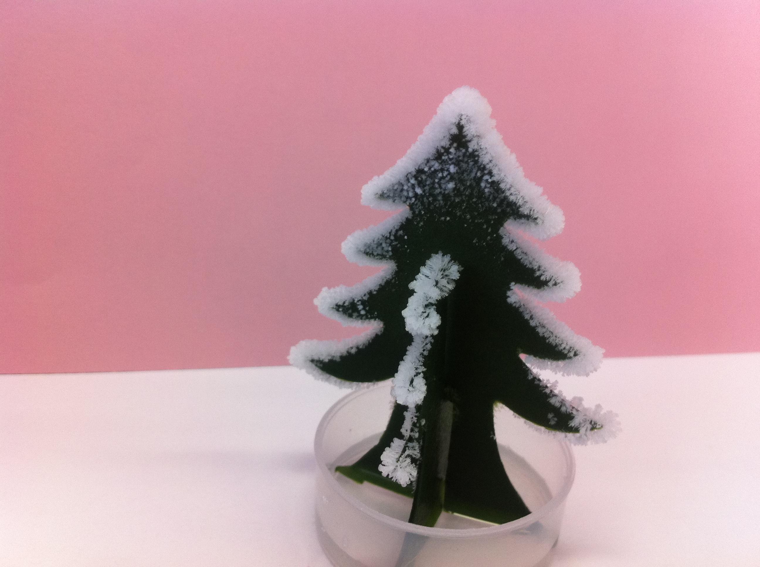 crystal growing christmas trees - Crystal Christmas Trees