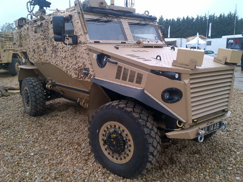 Foxhound light patrol vehicle in Army Brown. Courtesy of AkzoNobel.