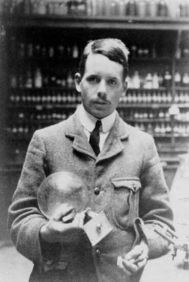 Henry Moseley in his lab