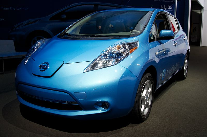 2013 Nissan Leaf electric car at the 2012 Los Angeles Auto Show